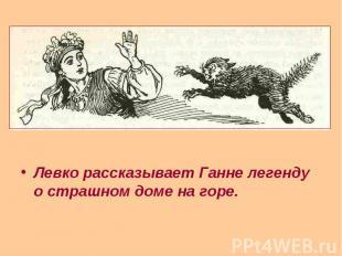 Левко рассказывает Ганне легенду о страшном доме на горе. Левко рассказывает Ган