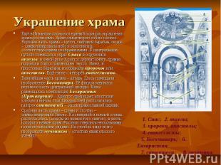 Украшение храма Ещё в Византии сложился единый порядок украшения храма росписями