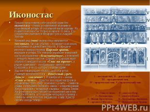 Иконостас Трудно представить себе русский храм без иконостаса – стены, уставленн