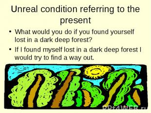 What would you do if you found yourself lost in a dark deep forest? What would y
