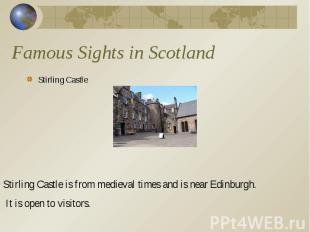 Stirling Castle Stirling Castle