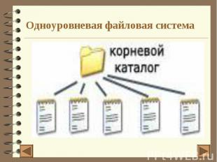 Одноуровневая файловая система