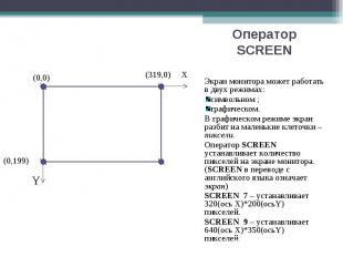 Экран монитора может работать в двух режимах: Экран монитора может работать в дв