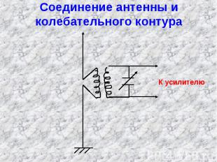 Соединение антенны и колебательного контура