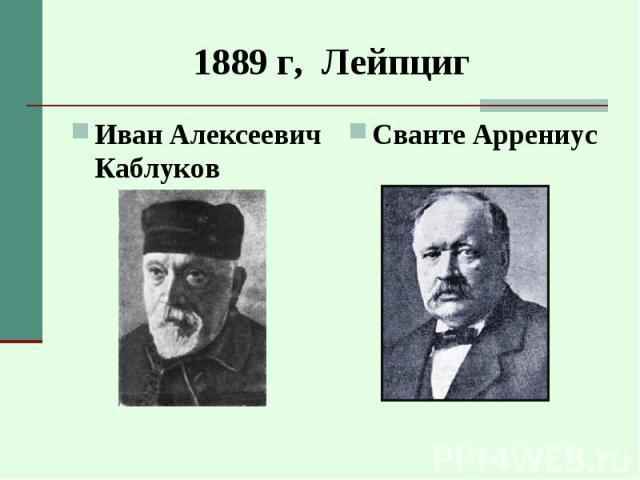 Иван Алексеевич Каблуков Иван Алексеевич Каблуков