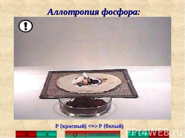 Аллотропия фосфора: