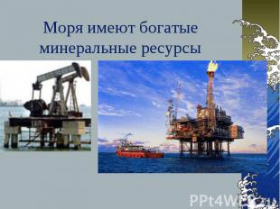 Моря имеют богатые минеральные ресурсы