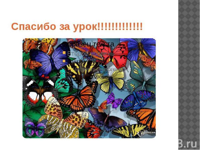 Спасибо за урок!!!!!!!!!!!!!