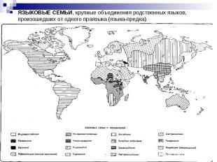 ЯЗЫКОВЫЕ СЕМЬИ, крупные объединения родственных языков, произошедших от одного п