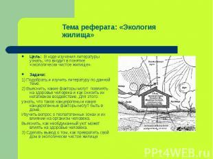 Цель: В ходе изучения литературы узнать, что входит в понятие «экологически чист