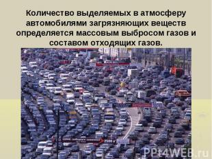 Количество выделяемых в атмосферу автомобилями загрязняющих веществ определяется