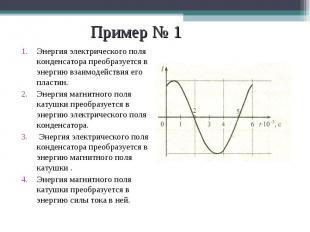 Энергия электрического поля конденсатора преобразуется в энергию взаимодействия