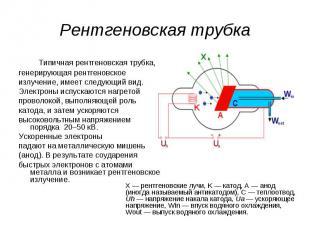 Типичная рентгеновская трубка, &