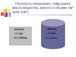 железо железо V=1м3 m=7800кг