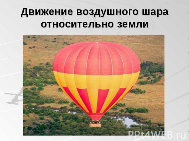 Движение воздушного шара относительно земли