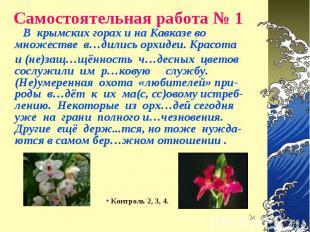 В крымских горах и на Кавказе во множестве в…дились орхидеи. Красота В крымских