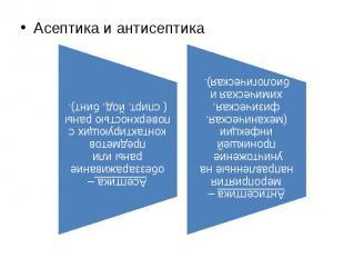 Асептика и антисептика Асептика и антисептика