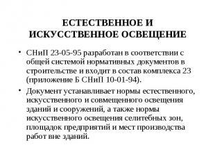 СНиП 23-05-95 разработан в соответствии с общей системой нормативных документов