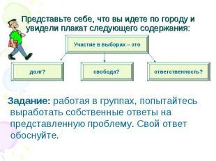 Задание: работая в группах, попытайтесь выработать собственные ответы на предста