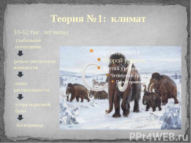 Теория №1: климат 10-12 тыс. лет назад
