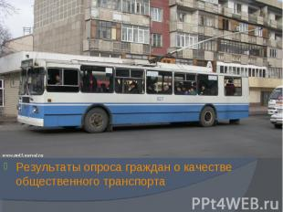 Результаты опроса граждан о качестве общественного транспорта Результаты опроса