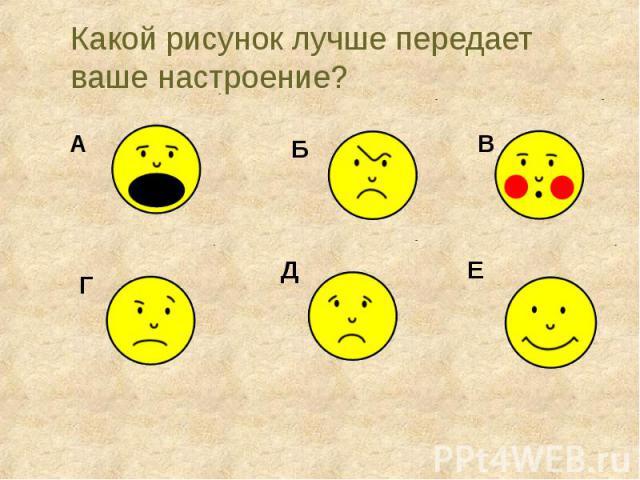Какой рисунок лучше передает ваше настроение?