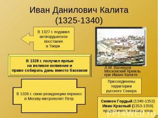 Иван Данилович Калита (1325-1340)