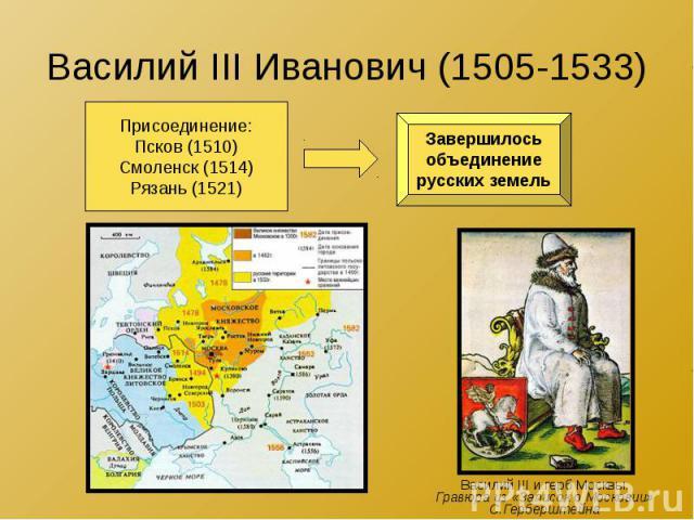 Василий III Иванович (1505-1533)