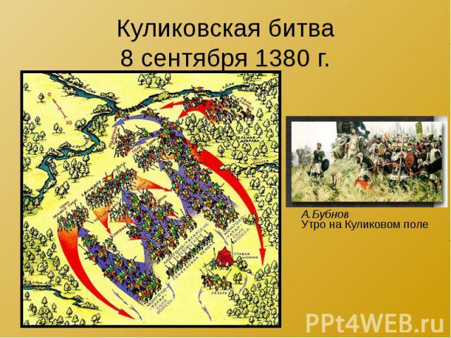 Куликовская битва 8 сентября 1380 г.