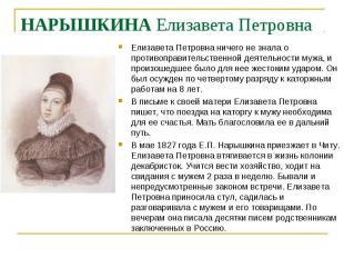 Елизавета Петровна ничего не знала о противоправительственной деятельности мужа,