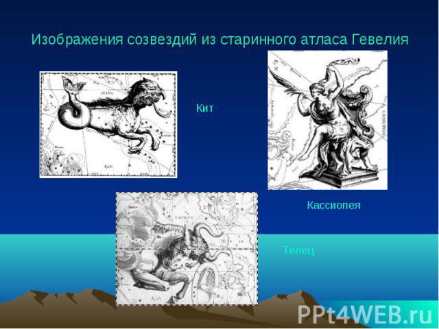 Изображения созвездий из старинного атласа Гевелия