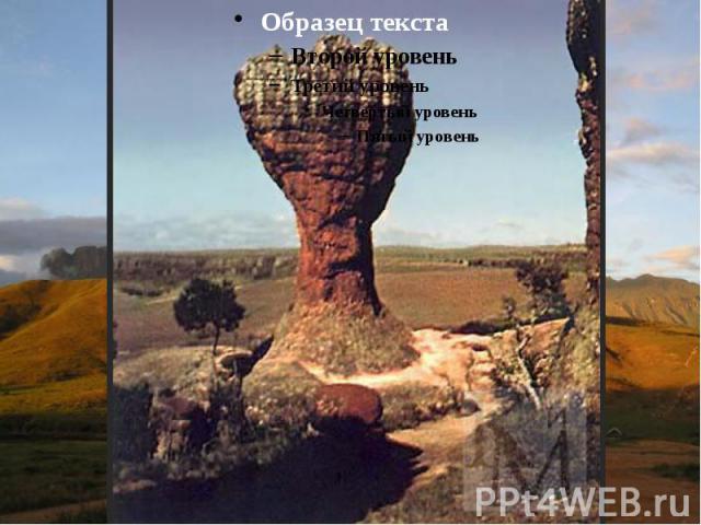 Гвианское плоскогорье - выступ докембрийского фундамента в северной части Южно-Американской платформы