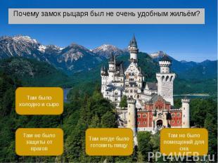 Почему замок рыцаря был не очень удобным жильём? Почему замок рыцаря был не очен