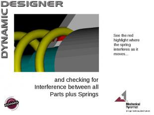 and checking for Interference between all Parts plus Springs See the red highlig