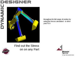 Find out the Stress on on any Part throughout its full range of motion by using
