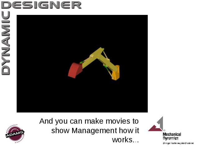 And you can make movies to show Management how it works...