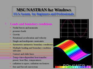 MSC/NASTRAN fьr Windows FEA-System for Beginners and Professionals Loads and bou
