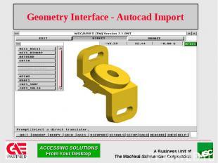 Geometry Interface - Autocad Import
