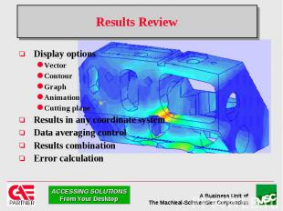 Results Review Display options Vector Contour Graph Animation Cutting plane Resu