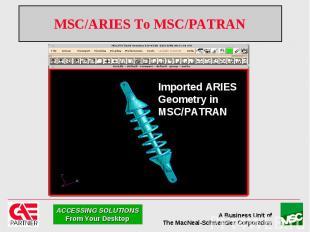 MSC/ARIES To MSC/PATRAN