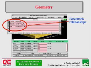 Geometry Parametric relationships