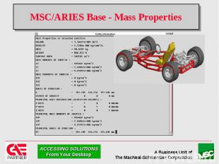 MSC/ARIES Base - Mass Properties