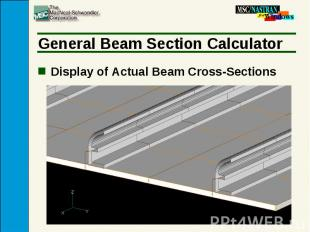 General Beam Section Calculator Display of Actual Beam Cross-Sections