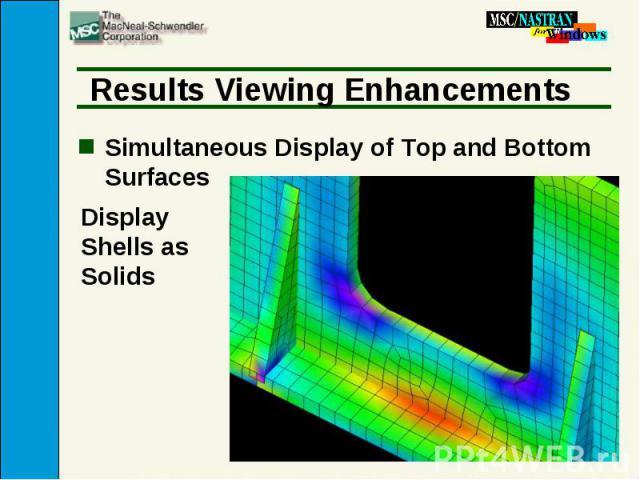 Results Viewing Enhancements Simultaneous Display of Top and Bottom Surfaces