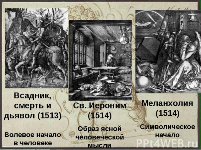Всадник, смерть и дьявол (1513) Волевое начало в человеке