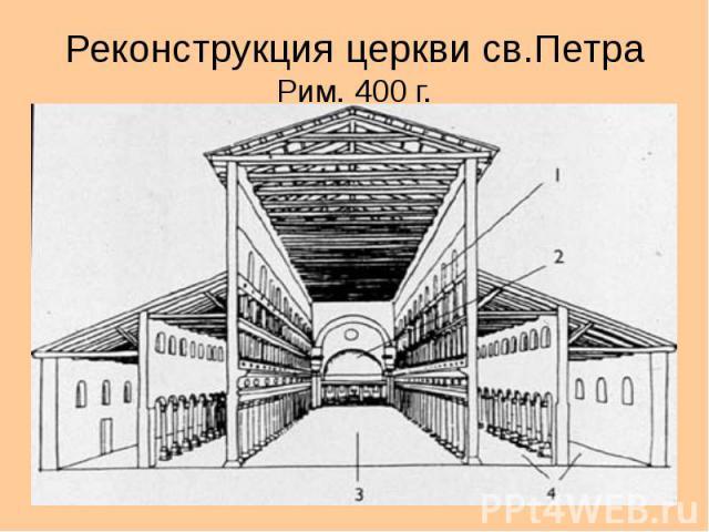 Реконструкция церкви св.Петра Рим. 400 г.