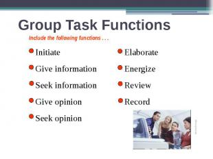 Group Task Functions