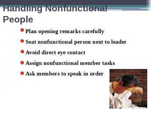 Handling Nonfunctional People