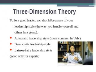 Three-Dimension Theory