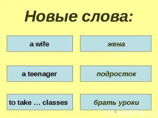 Новые слова: